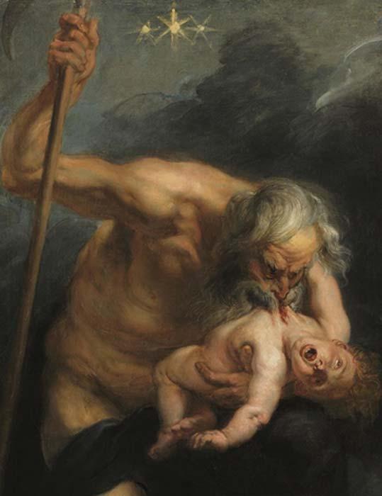 'Saturno (Cronos) devorando a su hijo', óleo de Pedro Pablo Rubens (Dominio público)