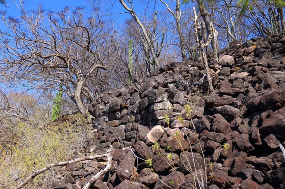 Sección casi perfecta de un muro megalítico en Chimalacatlán, extendiéndose a lo largo de una especie de callejón. (Marco Vigato)