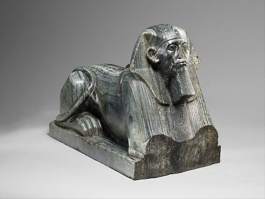 Sesostris III retratado como esfinge, 1878 a. C. – 1840 a. C., Egipto (posiblemente Alto Egipto) (Dominio público)
