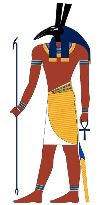 Set, una antigua deidad egipcia. Imagen basada en pinturas halladas en tumbas del Imperio Nuevo. (CC BY-SA 4.0)