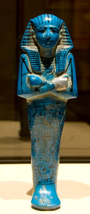 Shabti de Seti I expuesto en el Louvre (CC BY-NC-SA 2.0)