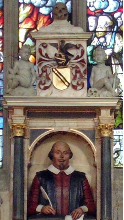 Monumento funerario a Shakespeare en Stratford-upon-Avon. Public Domain
