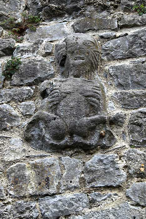 Sheela na gig en los muros del Castillo Court, Irlanda (CC by SA)