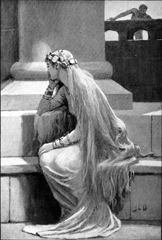 Sif, ilustración realizada en 1909 por John Charles Dollman. (Public Domain)