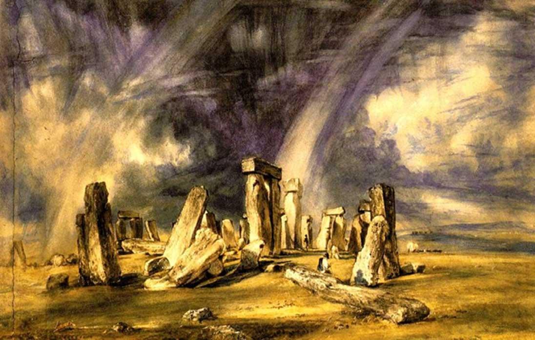 Stonehenge, acuarela de John Constable. Fuente: Dominio público
