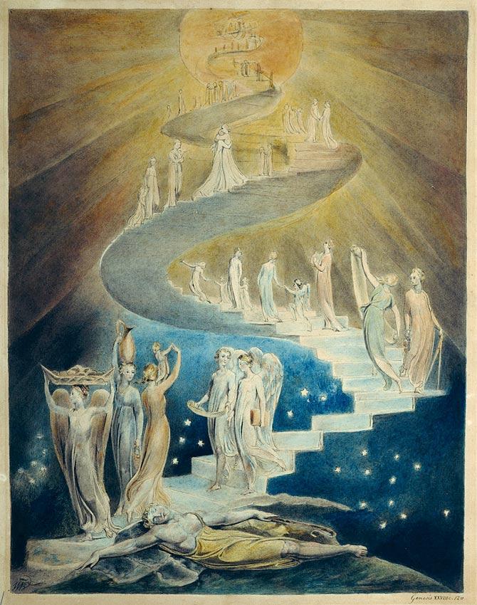 'El sueño de Jacob', ilustración de William Blake realizada en torno al año 1805, Museo Británico, Londres. (Public Domain)