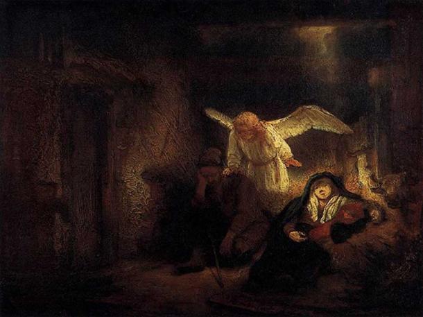 'El sueño de José' (1645), óleo producido por el taller de Rembrandt. (Public Domain)