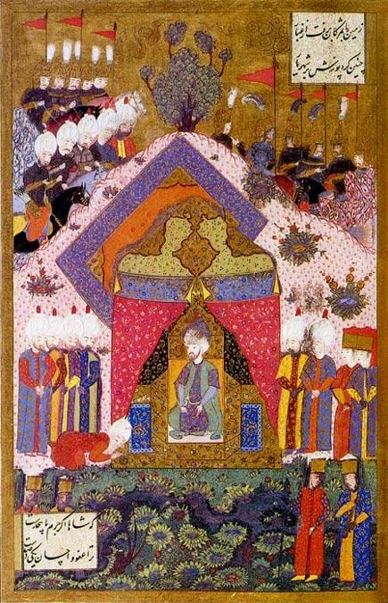 Solimán el Magnífico recibe a un embajador. (Public Domain)