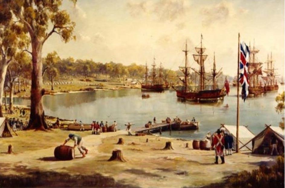 Bahía de Sidney, Primera Flota, 1788, Australia (NewStars)