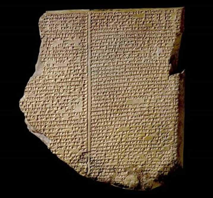 Tablilla del Diluvio / Tablilla de Gilgamesh / Biblioteca de Ashurbanipal (siglo VII a. C.). (Museo Británico)