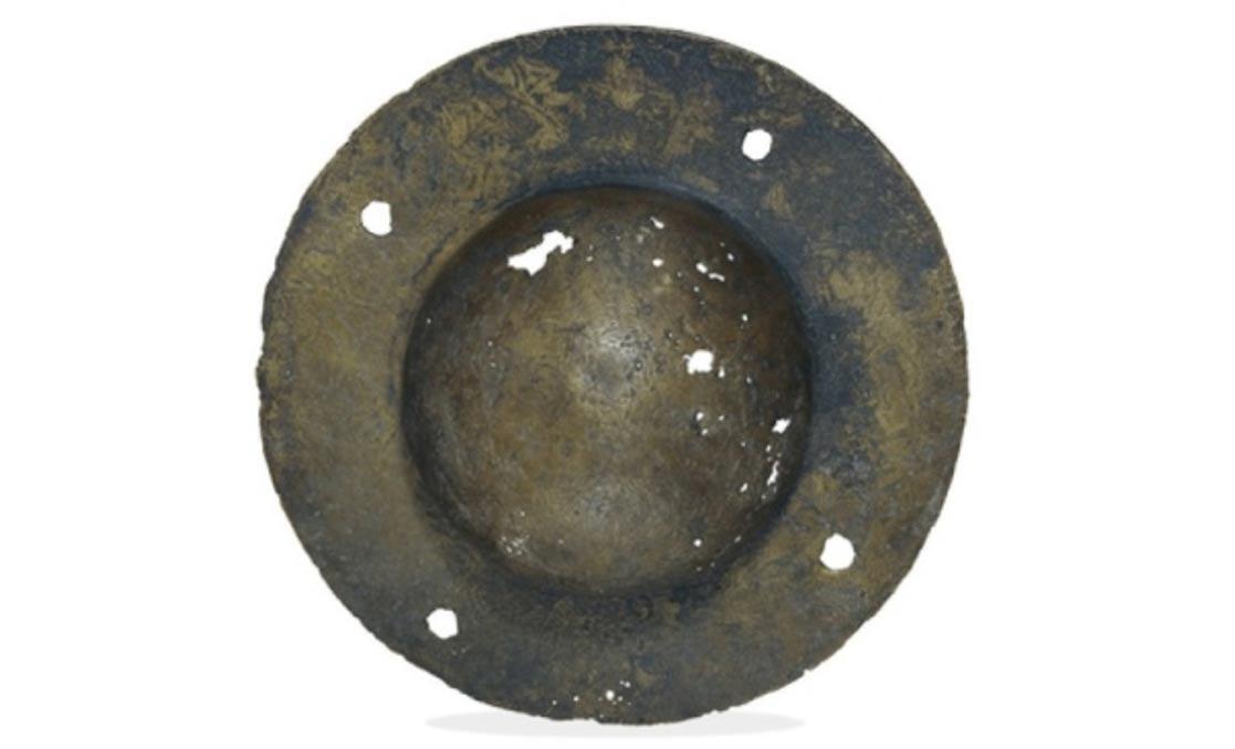Tachón metálico de un escudo romano similar al que se encontró en Nueva Escocia. Imagen meramente ilustrativa (Public Domain)