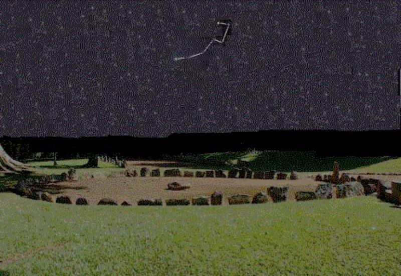 Relación de la piedra central de la plaza de Caguana en Puerto Rico con la estrella Polar de la Osa Menor, que siempre marca el Norte.