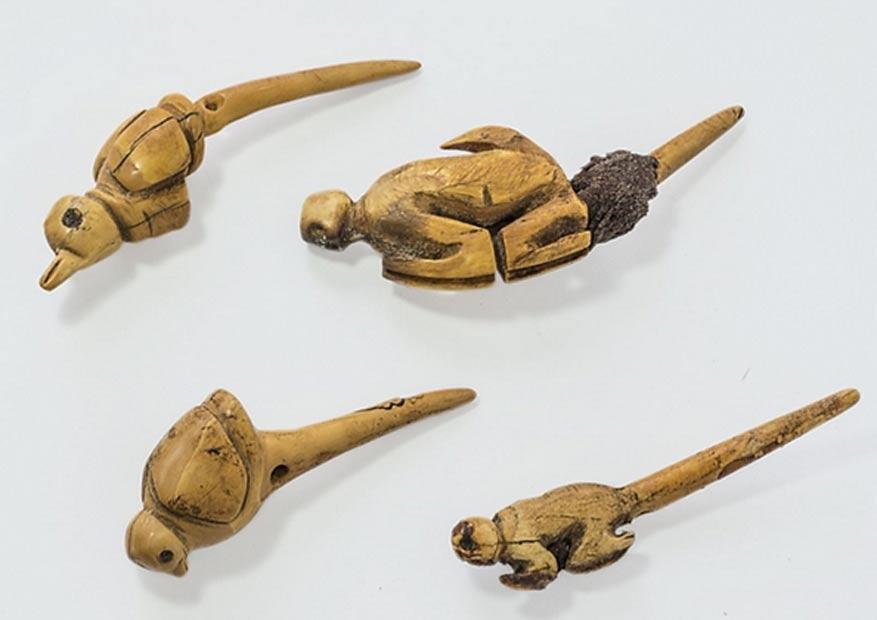 Tallas de animales halladas en la tumba recientemente descubierta. (Andina)