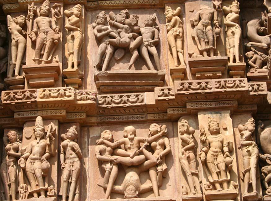 Esculturas eróticas de los templos de Khajuraho (Nagarjun Kandukuru / flickr)