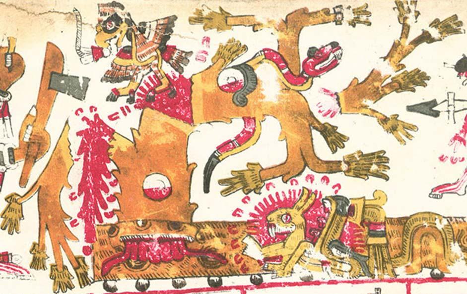 Tamoanchán tal y como aparece representado en el Códice Borgia. (Dominio público)