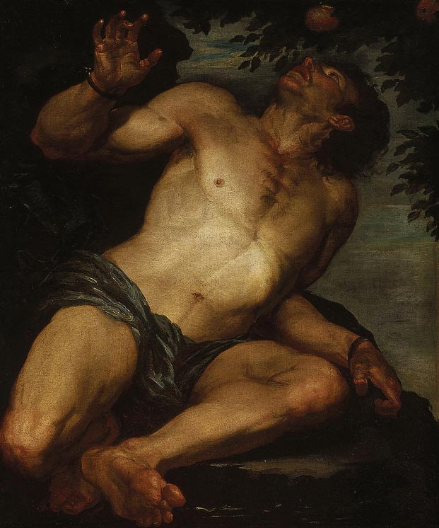 La tortura de Tántalo no tenía fin. Óleo, 1630s-1640s. Public Domain