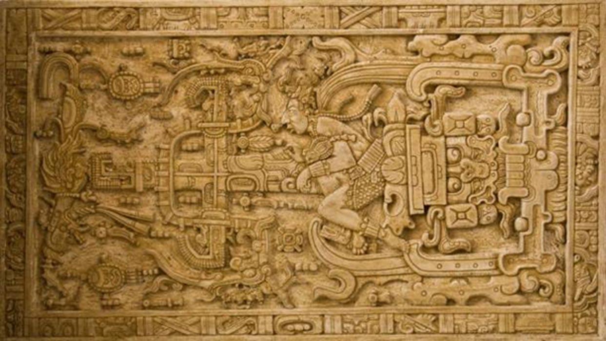 La magnífica tapa del sarcófago de Pakal. (Asaf Braverman / Flickr)