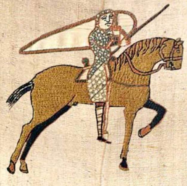 Tapiz de Bayeux: caballo de color dorado (Public Domain)