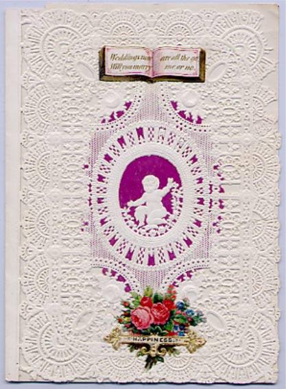 Tarjeta de San Valentín de Esther Howland, año 1850 aproximadamente. Public Domain