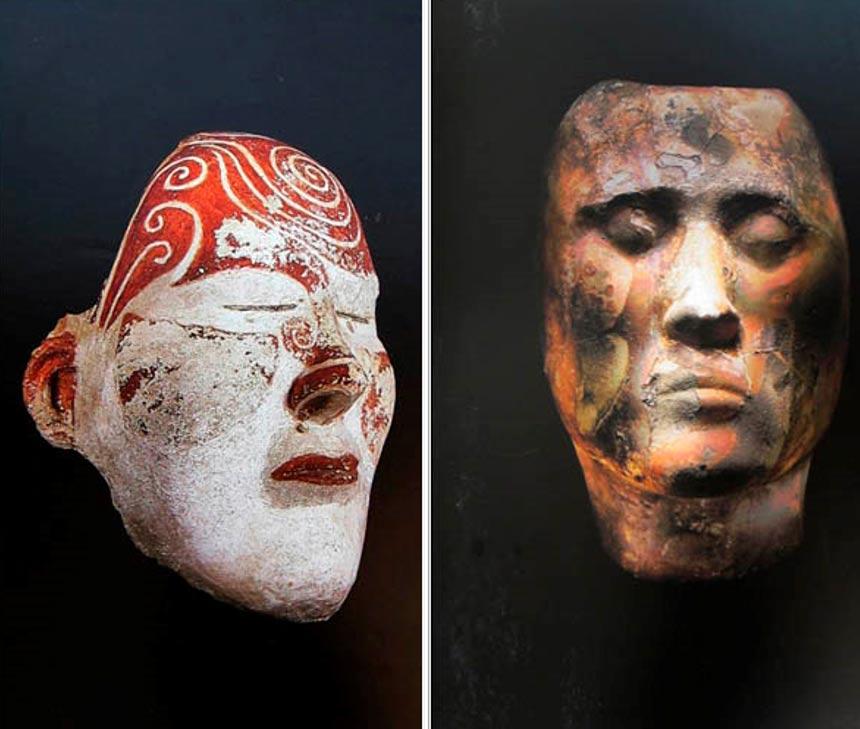 Las máscaras funerarias Tashtyk descubiertas con anterioridad se encuentran alojadas en el Museo Estatal del Hermitage de San Petersburgo, y también en otros museos. Fotos: Boris Dolinin