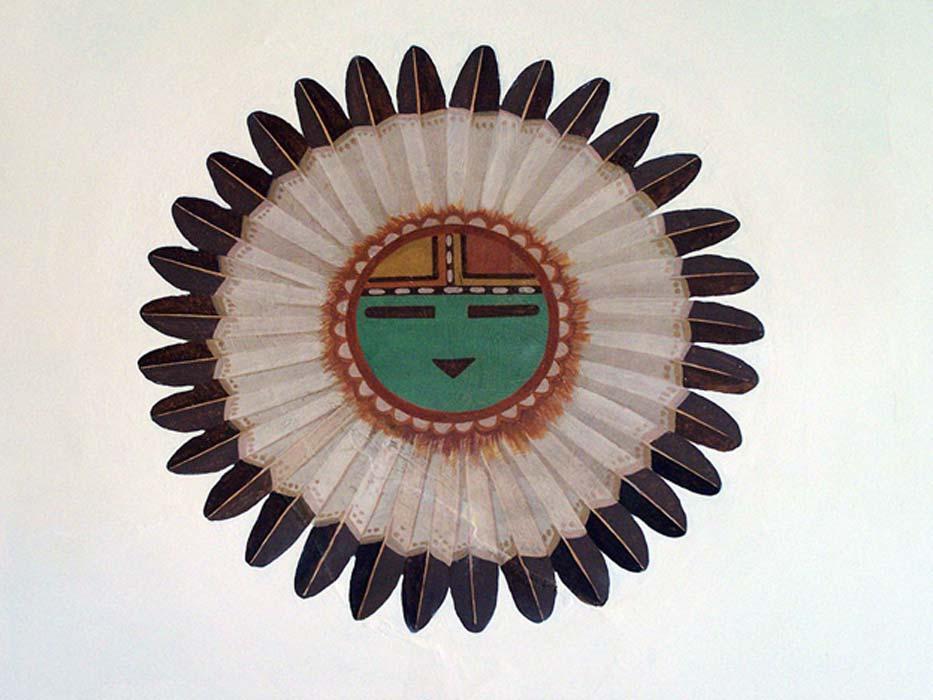 Pintura mural Hopi: Tawa, Espíritu del Sol y Creador en la mitología Hopi. (Public Domain)