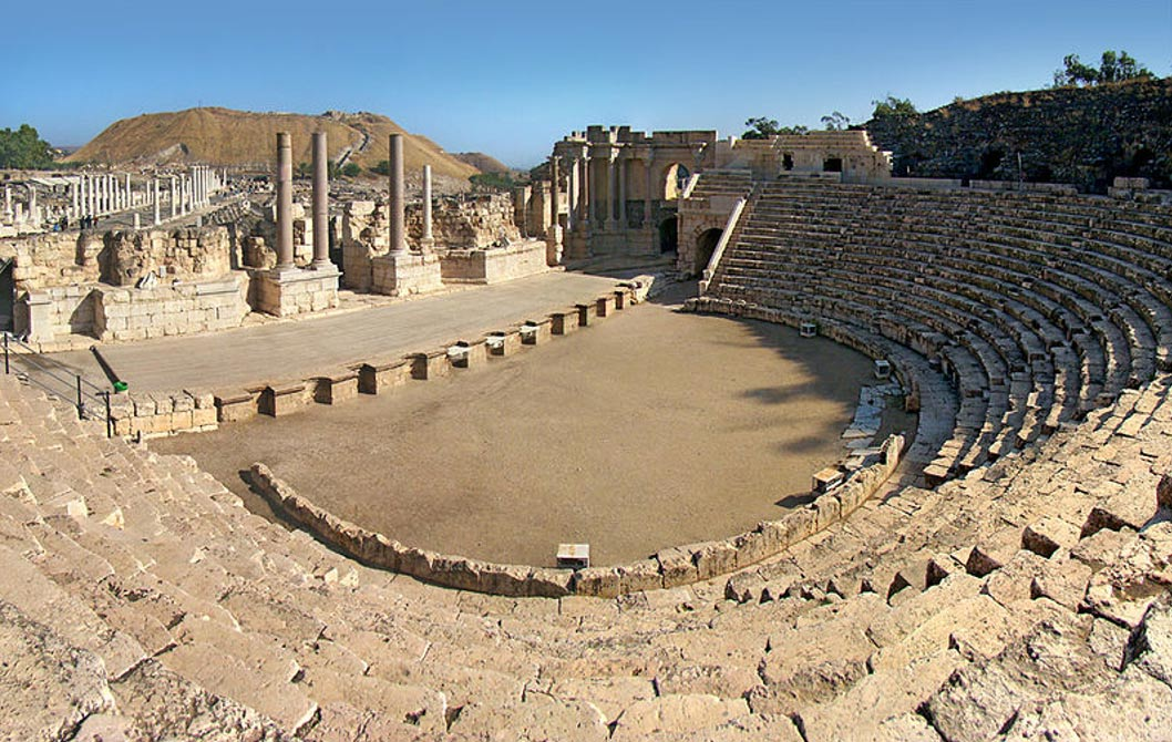 Teatro romano de Escitópolis, Beit She'an, Israel. (Tango7174/CC BY SA 4.0) Beit She'an fue un emplazamiento importante para numerosas civilizaciones antiguas.