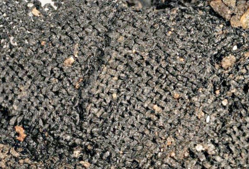 Uno de los tejidos de la Edad de Bronce recuperados en Must Farm. (Fotografía: La Gran Época/Must Farm)