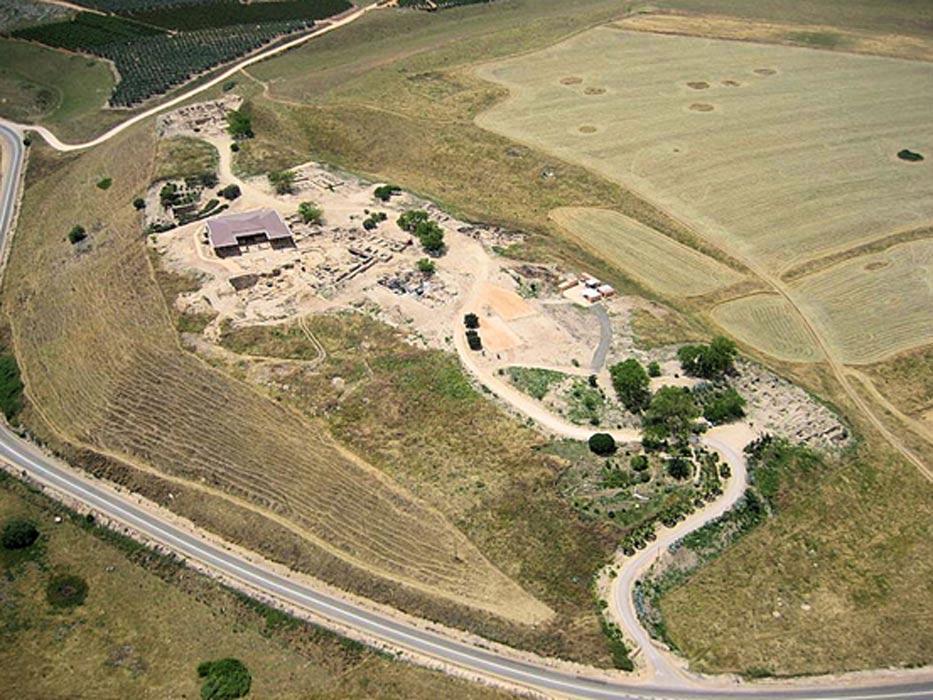 Tel Hazor, conocida también como Hazor y Tell el-Qedah, Israel (delange.org)