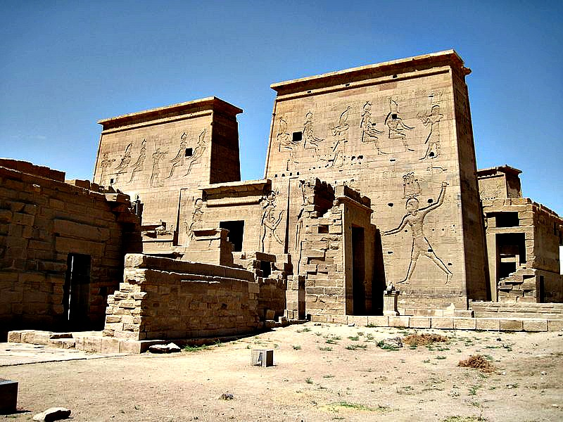 Panorámica del Templo de Imhotep en Philae, Egipto. (Olaf Tausch/GNU Free)