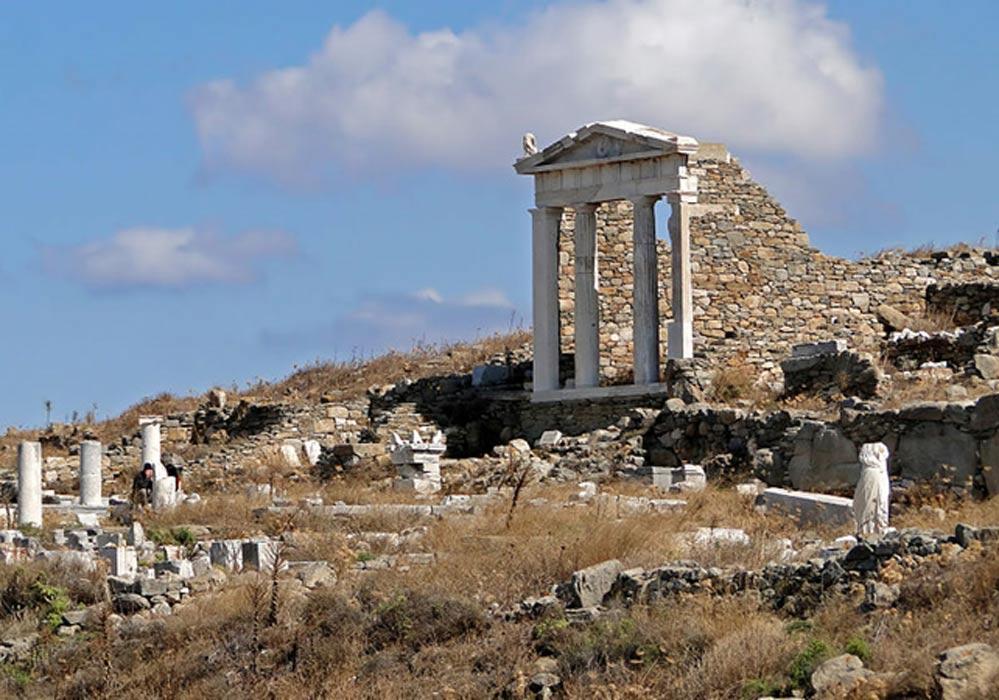 Ruinas del templo de Isis en Delos, Grecia. (Bernard Gagnon/CC BY SA 3.0)