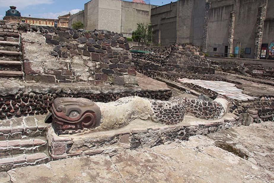 Ruinas del Templo Mayor de Ciudad de México excavadas con anterioridad (CC BY-SA 4.0)