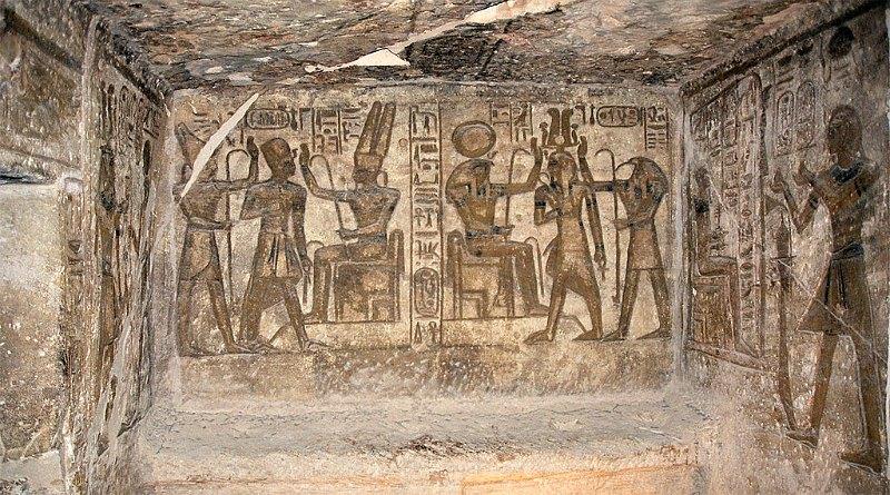 "Capilla lateral en el interior del Templo de Ramsés II, Abu Simbel, Egipto. (Przemyslaw ""Blueshade"" Idzkiewicz/CC BY-SA 2.0)"