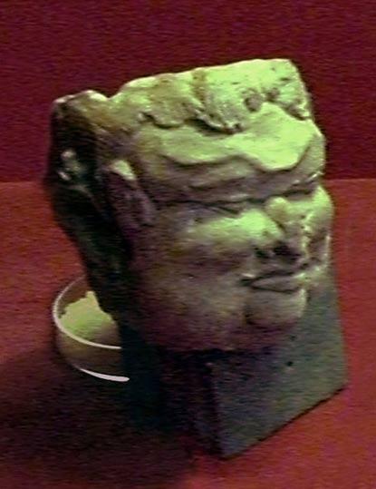 Cabeza de terracota que se cree representación de Gajah Mada, Trowulan, Java Oriental, Indonesia. (Wikimedia Commons)