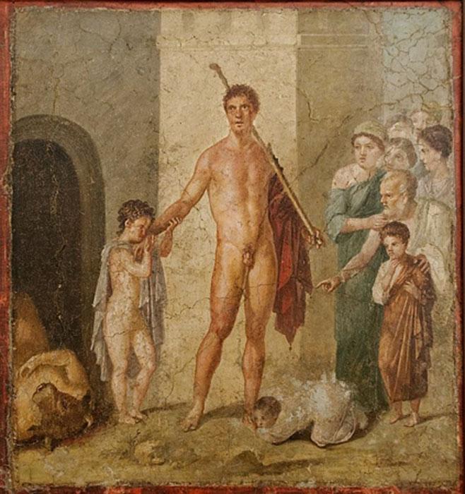 Teseo es honrado por los atenienses después de haber dado muerte al Minotauro. (Dominio público)