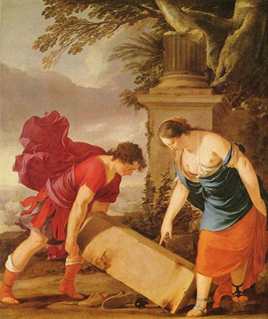 'Teseo y Etra' (1635-1636), óleo de Laurent de la Hire. (Dominio público)