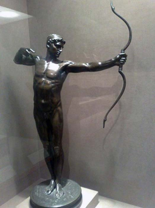 Estatua de bronce que representa al legendario arquero Teucro, fundador de la Salamina chipriota según Homero. (CC BY SA 2.5)