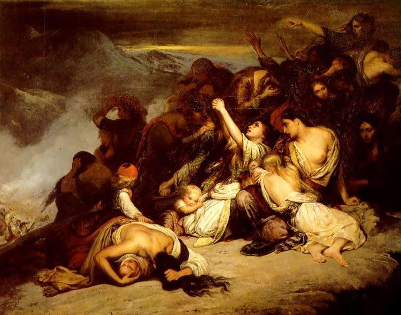 Las Mujeres Suliotas (1827), Ary Scheffer (Wikimedia Commons)