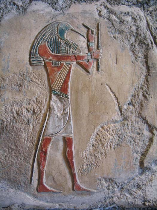 Thot, dios egipcio de la escritura, el conocimiento y, al parecer, también de los oculistas. (CC BY-NC-SA 2.0)