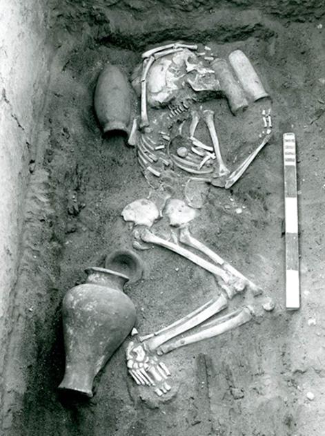 Típico enterramiento de Saqqara hallado en el transcurso de excavaciones realizadas en la primera mitad del siglo XX (Egypt Exploration Society)