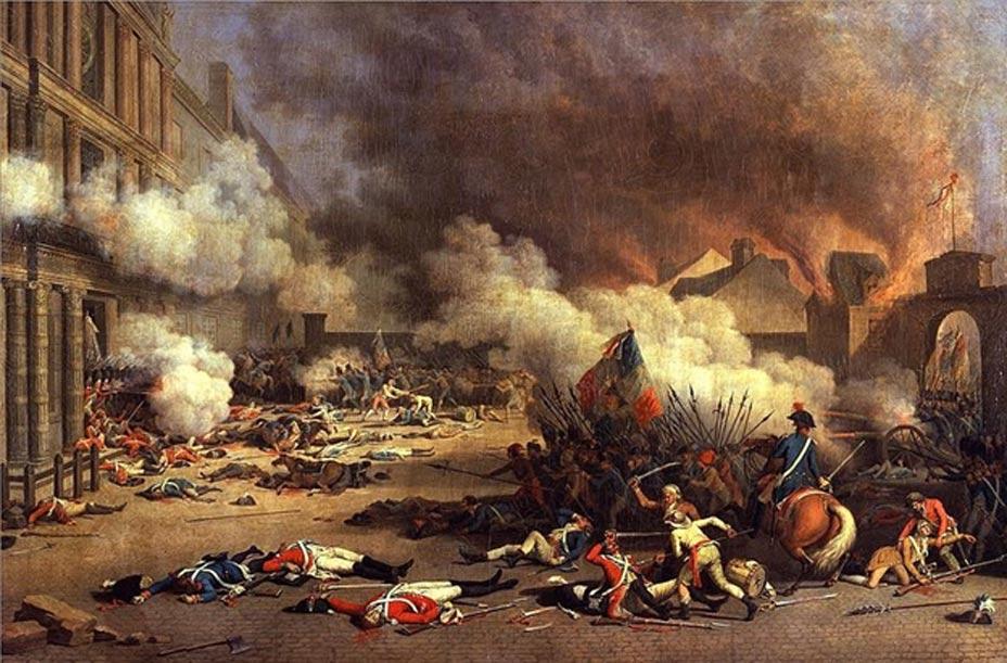 Escena de la Revolución Francesa: 'Toma del Palacio de las Tullerías', óleo de Jacques Bertaux pintado en 1793. (Public Domain)