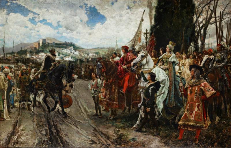 'La rendición de Granada' (1882), óleo sobre lienzo de Francisco Pradilla (Dominio público)
