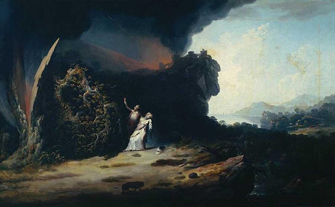 'Tormenta con la muerte de Amelia', óleo de William Williams (1784). (Dominio público)