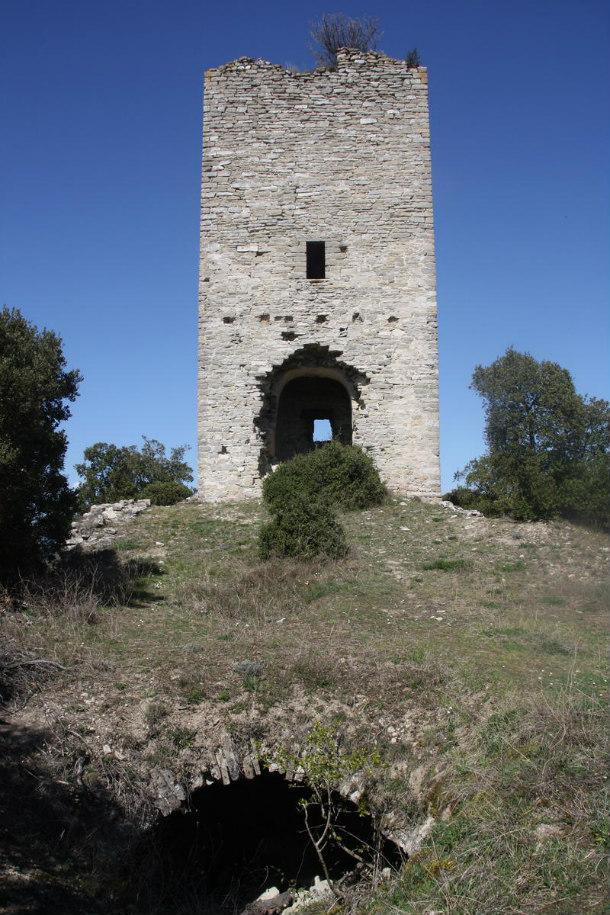 Torre del antiguo castillo de Arganzón, construido hacia el año 1000. (Fotografía: UPV/EHU-Agencia Sinc)