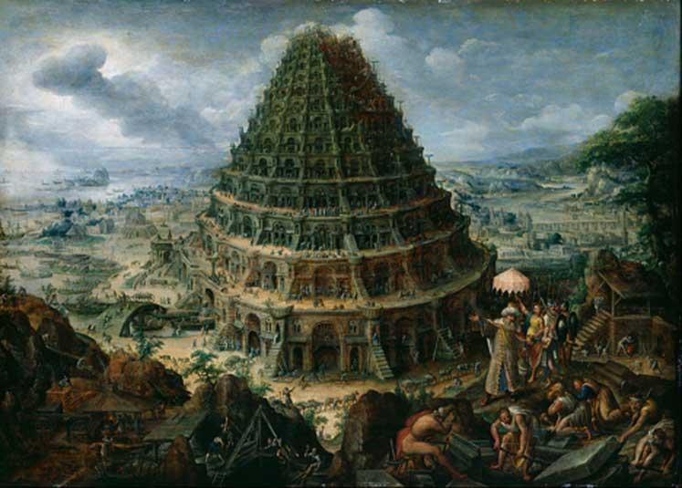 La Torre de Babel, óleo de Marten van Valckenborch el Viejo. (Dominio público)