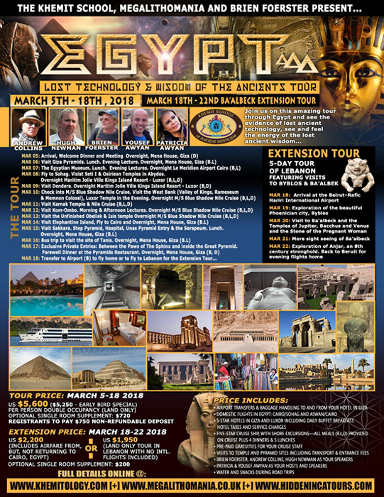 Tour antiguo Egipto y Baalbek - Hugh Newman