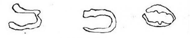 """Dibujo de las """"Huellas del Diablo"""" obra de G.M.M. de Whitecombs Raleigh"""