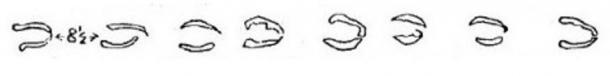 """Otro dibujo de las """"Huellas del Diablo"""", incluido en los documentos recogidos por el Reverendo H.T. Ellacomb"""