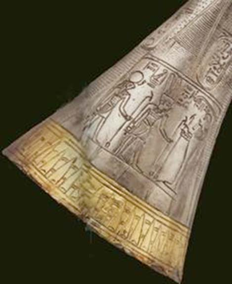 Detalle de la trompeta de plata de Tutankamón. (Cow of Gold/CC BY 3.0)