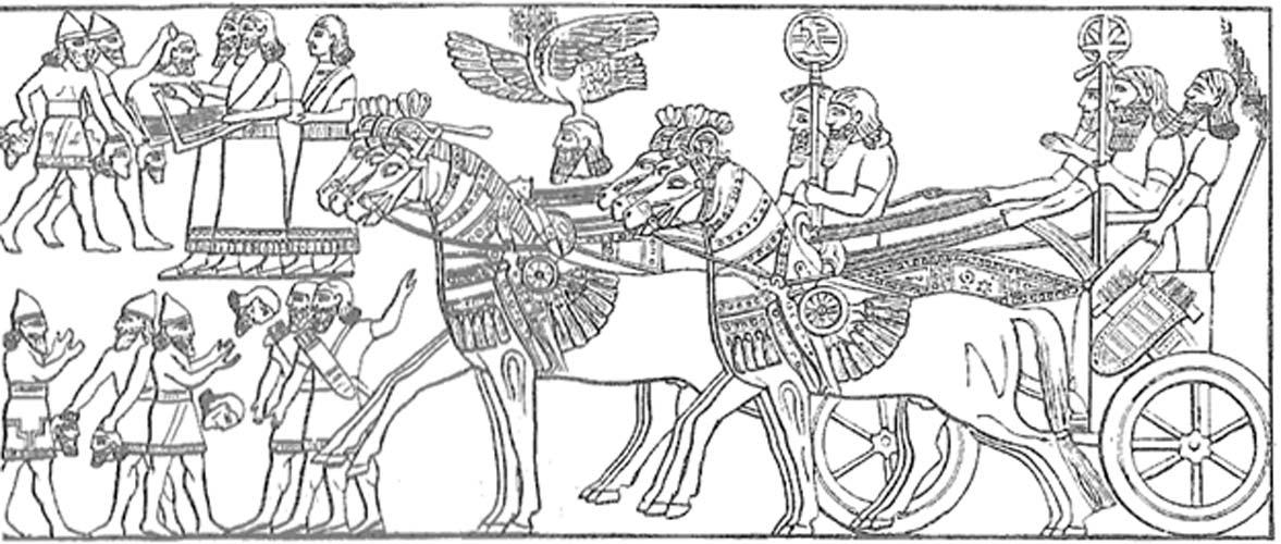 Tropas asirias regresan a casa tras la victoria. (Public Domain)