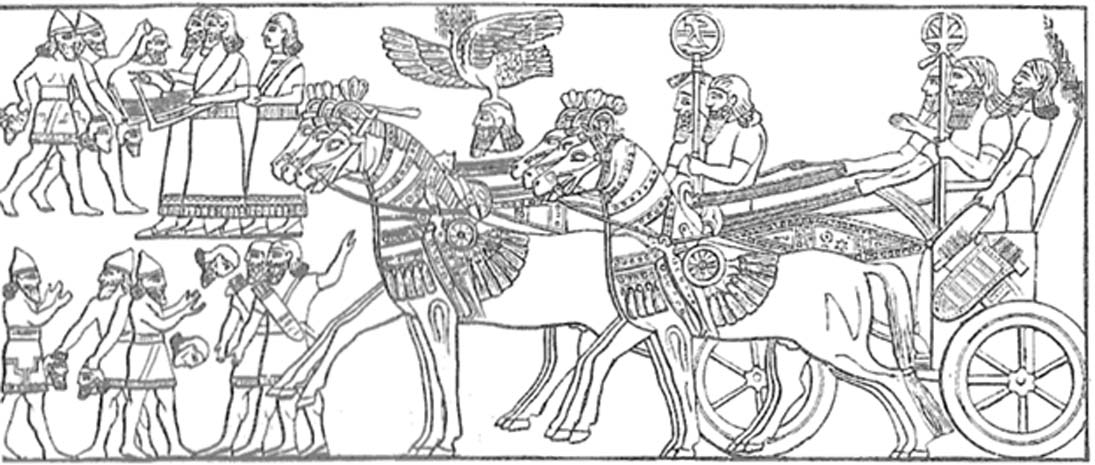 Tropas asirias regresan victoriosas a casa. (Public Domain)